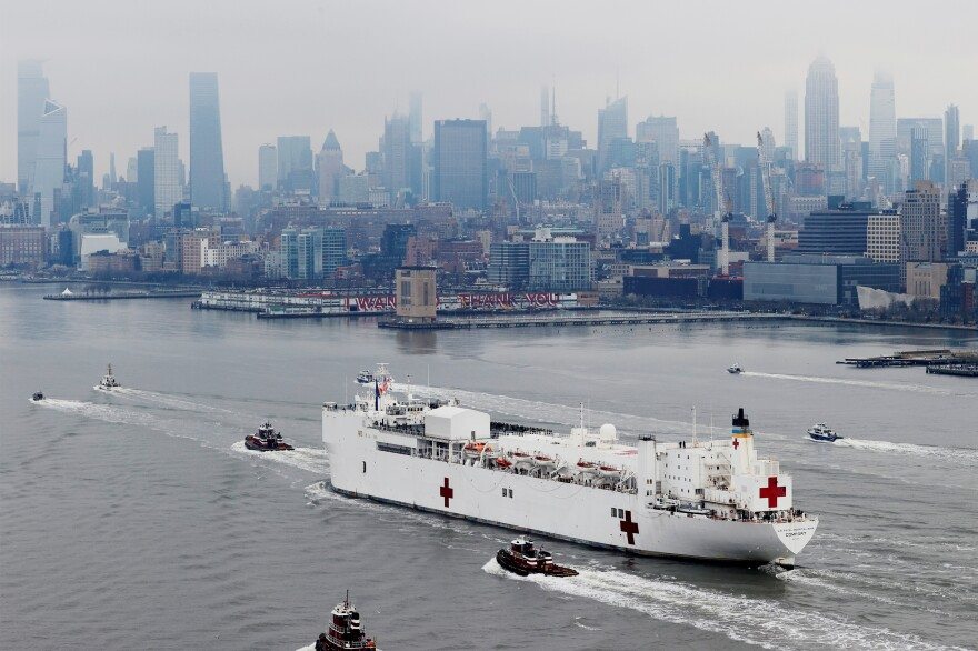 The USNS Comfort, another Military Sealift Command ship, entered New York Harbor on March 30. On Thursday, it is scheduled to end its deployment to New York City, where staff helped with the city's pandemic response.