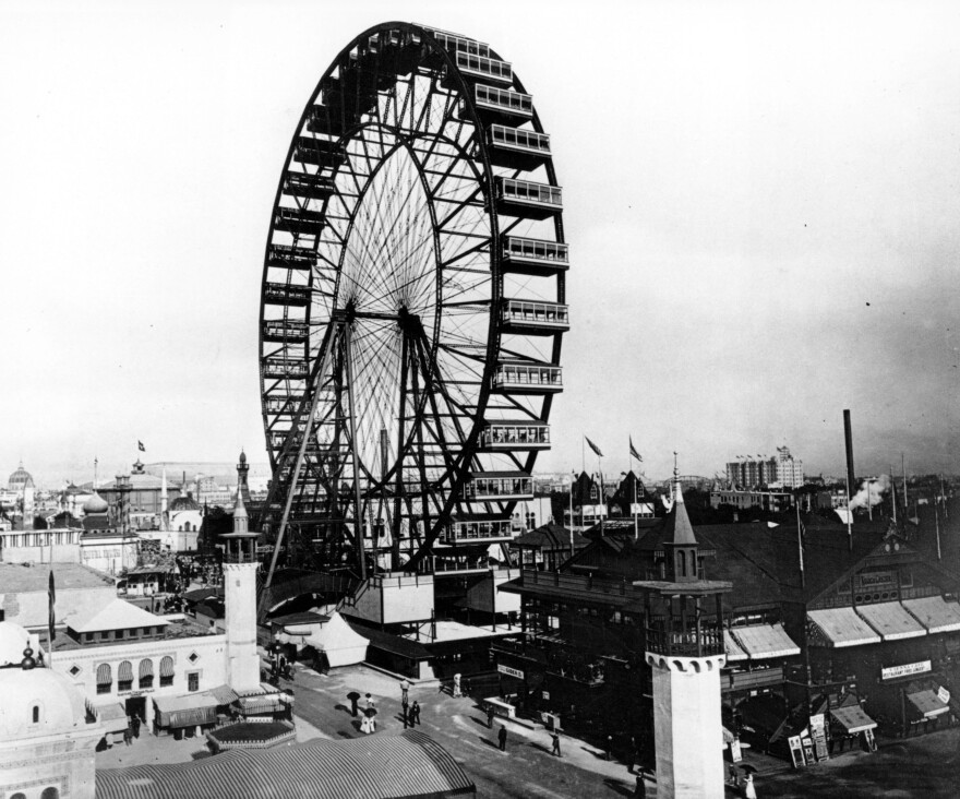 Jackson Park was home to the 1893 World's Fair. One of the fair's biggest attractions was a giant Ferris Wheel, which carried 1,400 people 250 feet into the air.