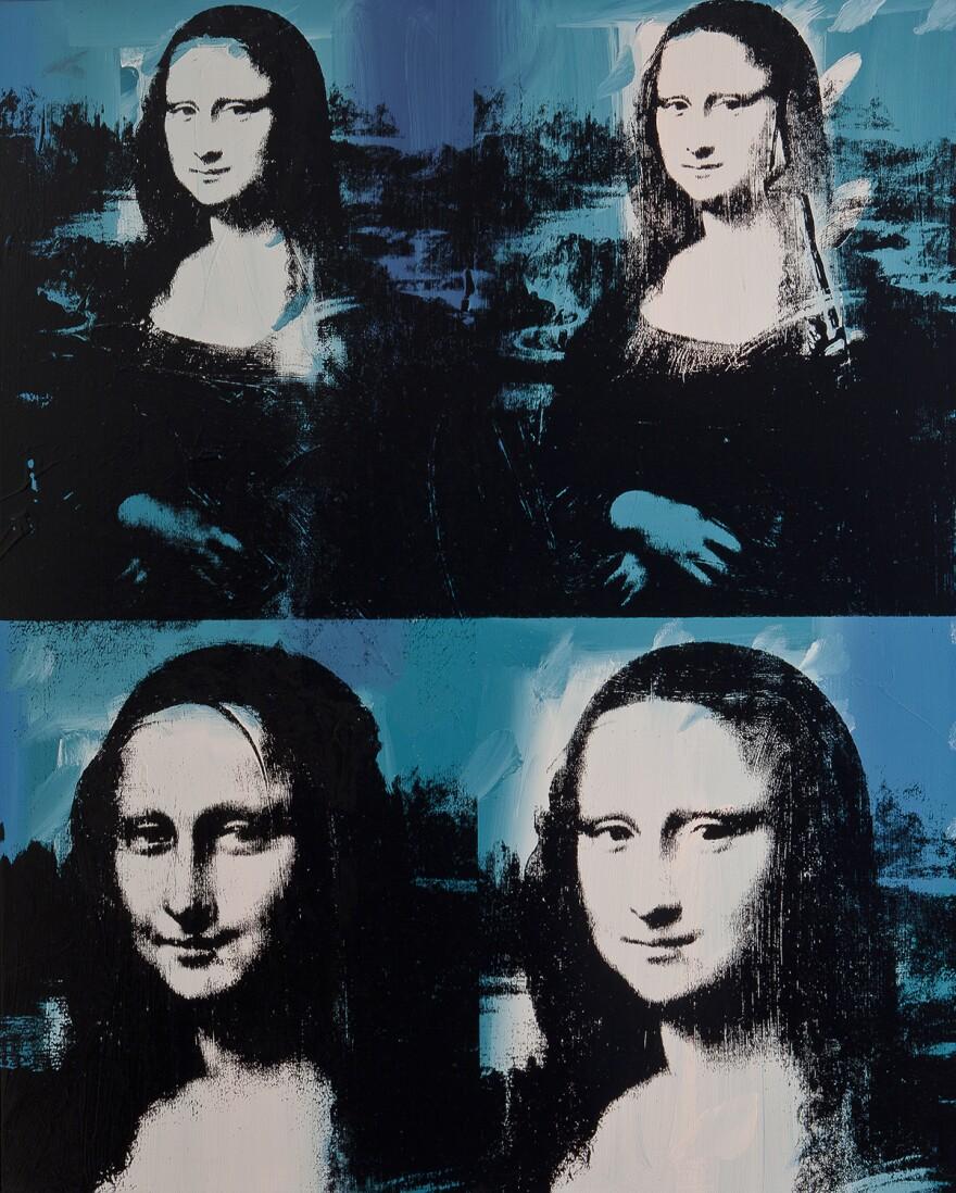 Andy Warhol's <em>Mona Lisa Four Times,</em> 1978.