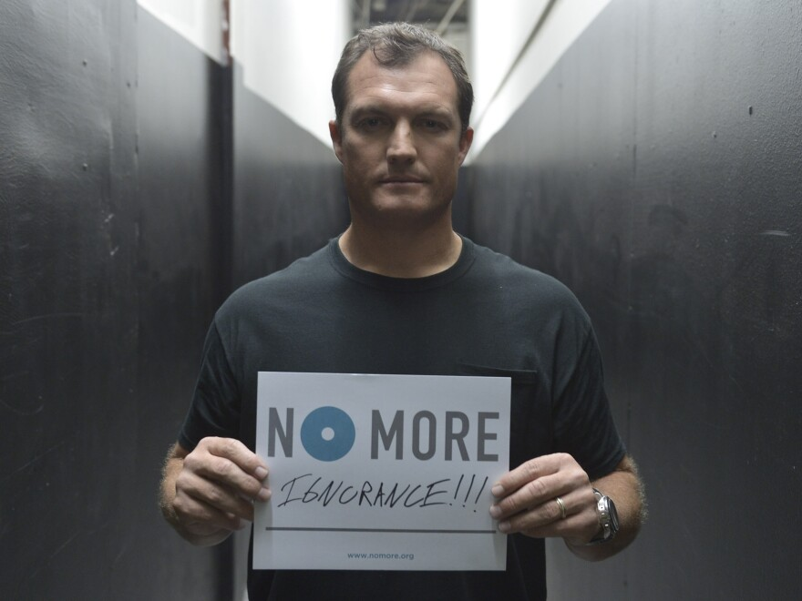"""NFL commentator and former strong safety John Lynch appears in new public service announcements from the """"No More"""" project."""