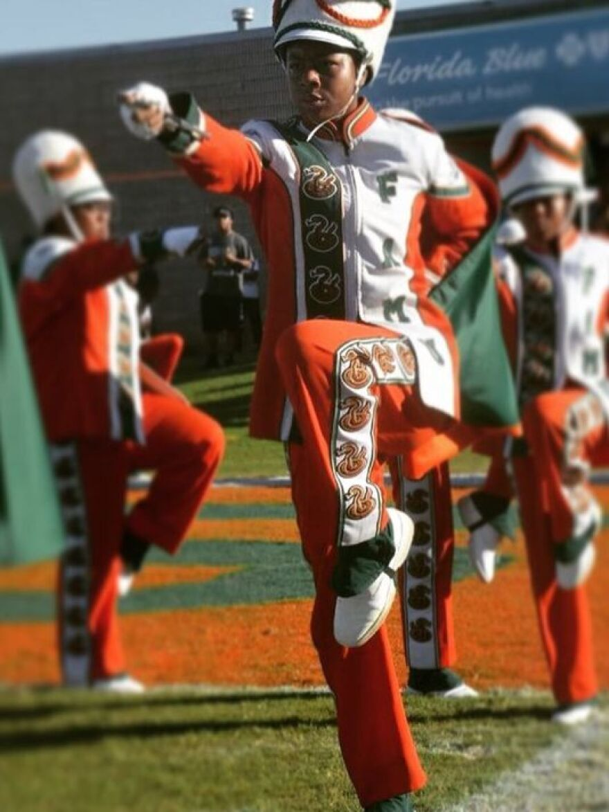 Metro-Atlanta native Cori Bostic has become the Marching 100's first woman drum major.