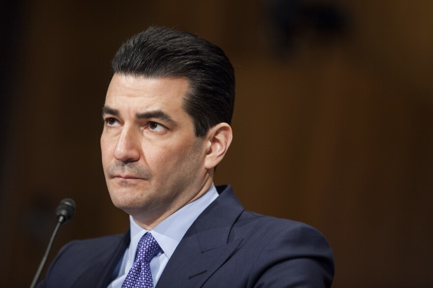 FDA Commissioner Scott Gottlieb announced Tuesday that he is resigning the position, effective in one month. He is seen here testifying during a Senate Health, Education, Labor and Pensions Committee hearing in April 2017.