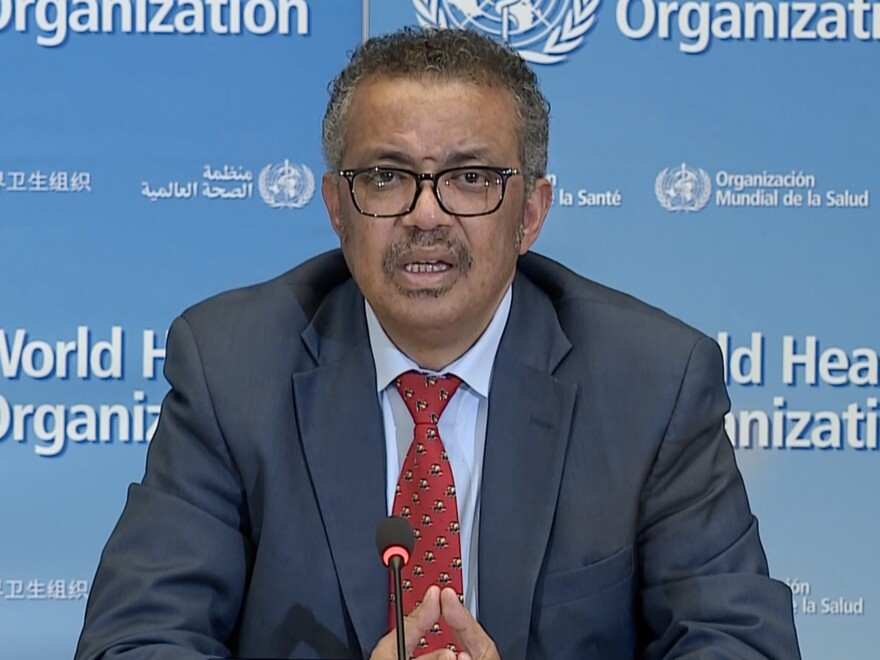 """""""No need to use COVID to score political points,"""" World Health Organization Director-General Tedros Adhanom Ghebreyesus says. """"You have many other ways to prove yourselves."""""""