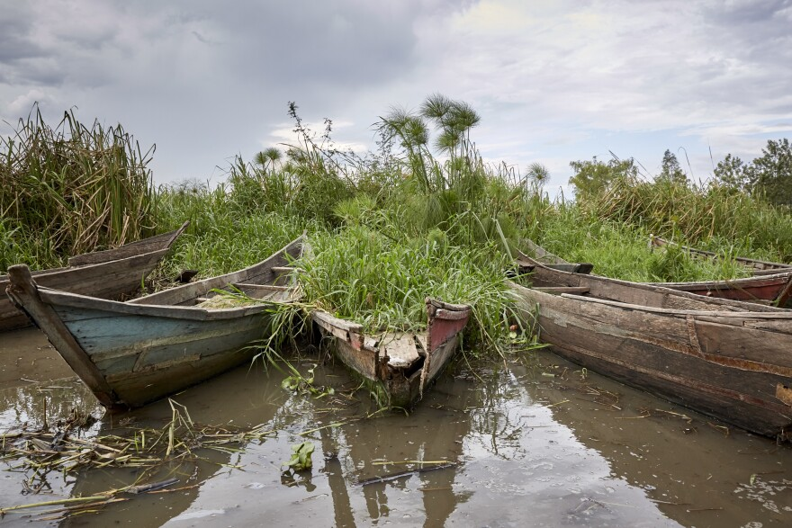 The village of Kusa Beach is another member of the No Sex For Fish cooperative. The people there say that these three boats, funded by grants, were made from low-quality wood and eventually had to be grounded.