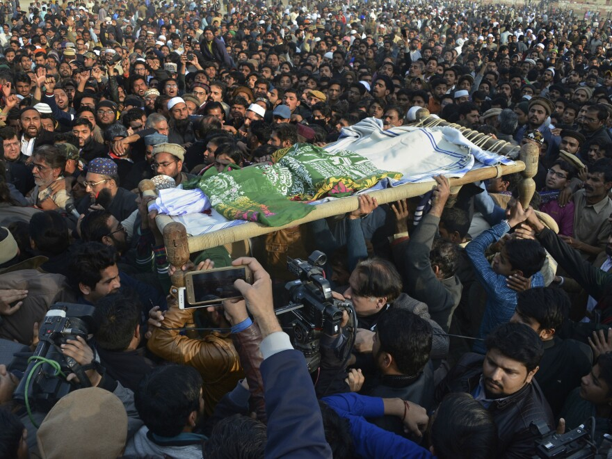 The funeral for the girl who was raped and killed in Kasur, Pakistan, drew people from across the city Wednesday. Outrage over the attack has prompted clashes between protesters and police.