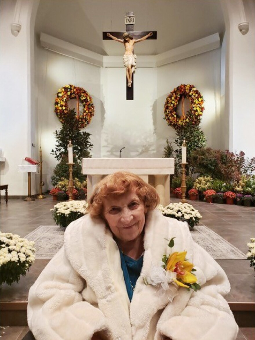 "Annette Kociolek, in a photograph from last year, was a fireball who loved broaches, beads, barrettes and living at St. Joe's. ""The nuns spoke Polish to her,"" her daughter said."