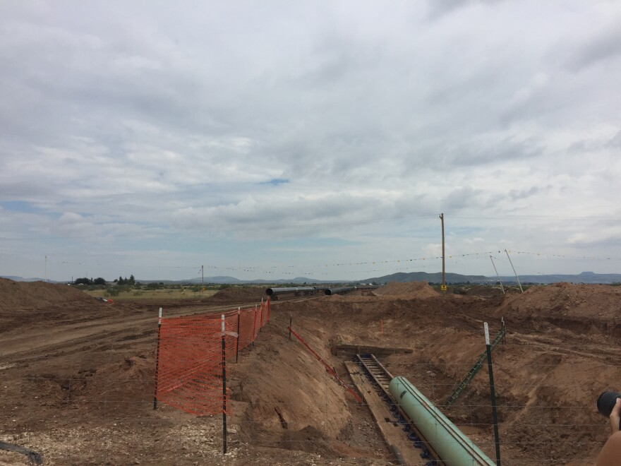 A natural gas pipeline under construction in Alpine, Texas in 2016.