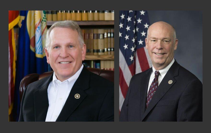 Montana Attorney General Tim Fox (L) and U.S. Rep. Greg Gianforte (R)