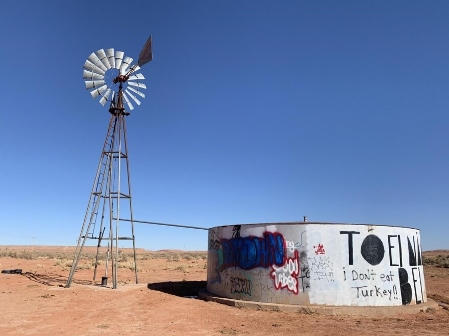 Thirty percent of people on the Navajo Nation haul their water from sources such as windmills, livestock tanks, springs, and water stations. Unregulated drinking water sources are the greatest public health risk on the Navajo Nation, according to the EPA.