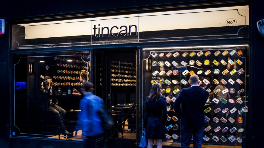 Tincan sells gourmet canned fish from around the world, though many of the items come from Portugal and Spain, where tinned delicacies have long been appreciated as culinary luxuries.