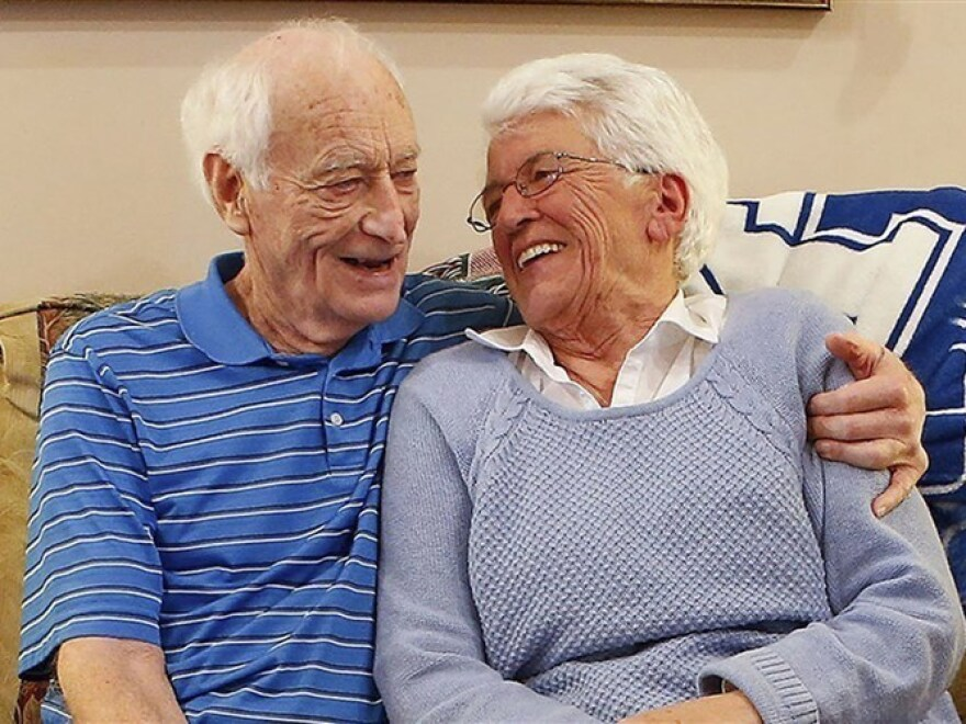After marrying in 1960 and divorcing in 1968, Harold Holland and Lillian Barnes are remarrying each other this year.