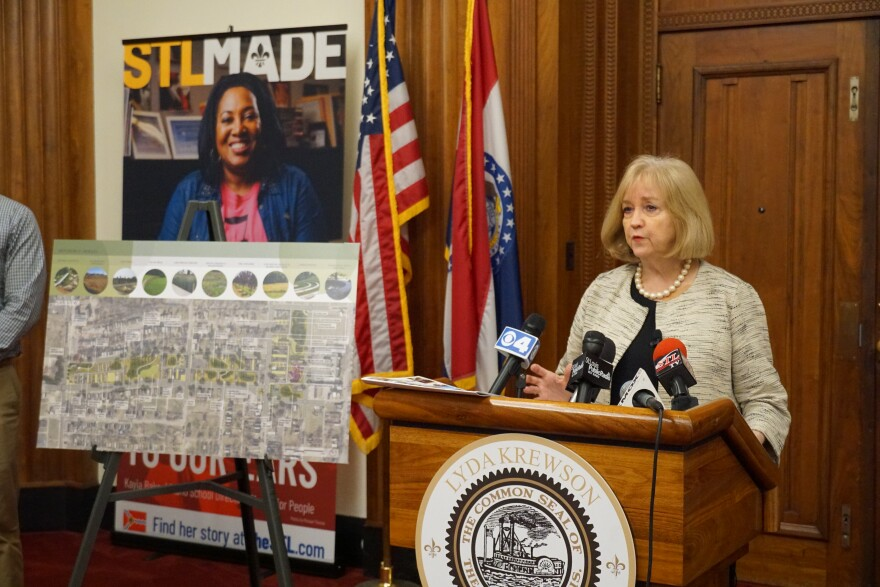 Mayor Lyda Krewson at St. Louis City Hall On April 17, 2019.