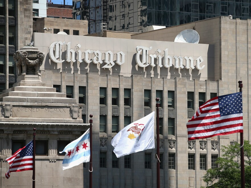 Organizers of a newsroom union at the <em>Chicago Tribune </em>have given the <em>Tribune</em>'s parent company, Tronc, a day to voluntarily recognize the guild and start to negotiate a contract.