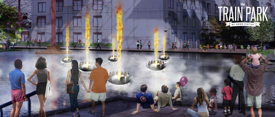 A Fire and Light show that syncs firepods with music and a light display is expected to open by November at Union Station.