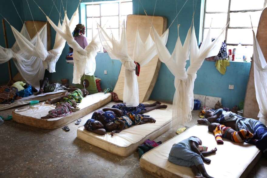 Lead exposure has been an issue for many years. Above: Women and children from lead-contaminated villages rest on mattresses during testing and treatment for lead poisoning in a ward at the Doctors Without Borders clinic in Anka, Nigeria, in 2010.