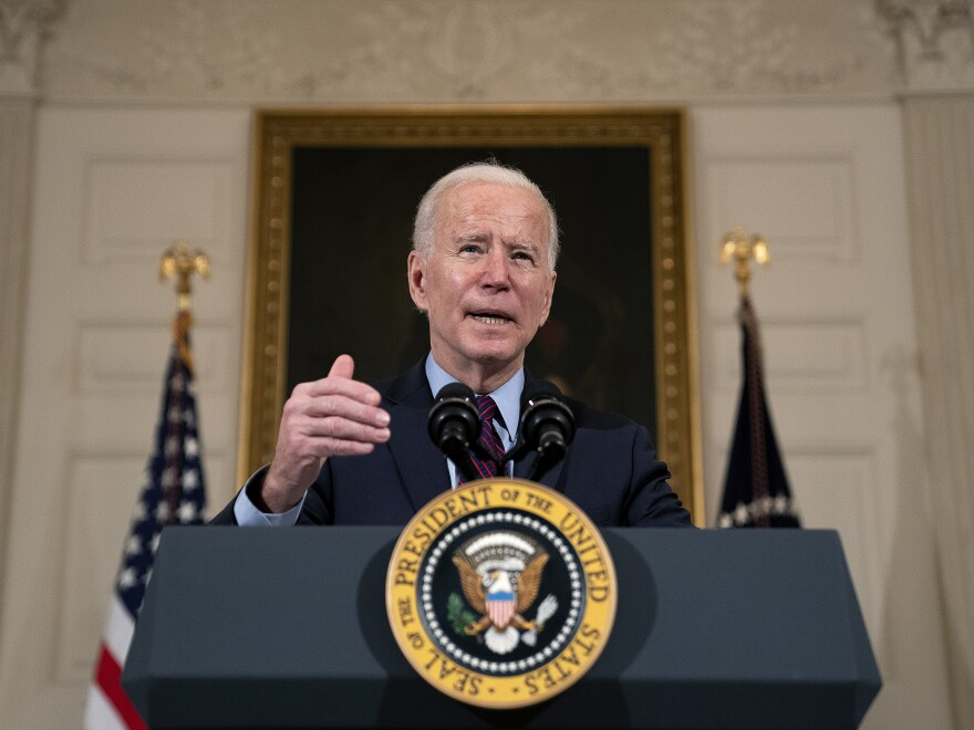 President Biden delivers remarks on the national economy on Friday.