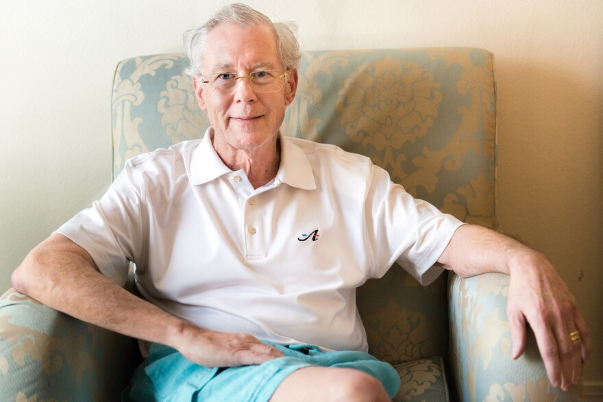 John Evard, 70, at the Las Vegas Recovery Center last July. Evard, a retired tax attorney, checked into a rehabilitation program to help him quit the prescribed opioids that had left him depressed, groggy and dependent on the drugs.