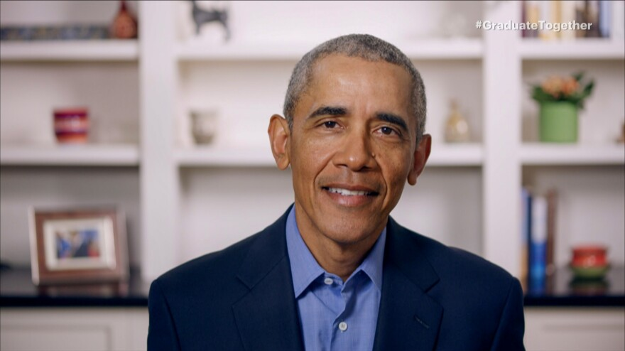 With live ceremonies canceled across the U.S., former President Barack Obama gave graduating seniors a virtual commencement address on Saturday during the virtual event Graduate Together: America Honors the High School Class of 2020.