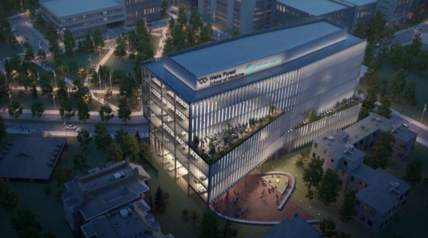 Atrium Wake Forest medical school rendering.JPG