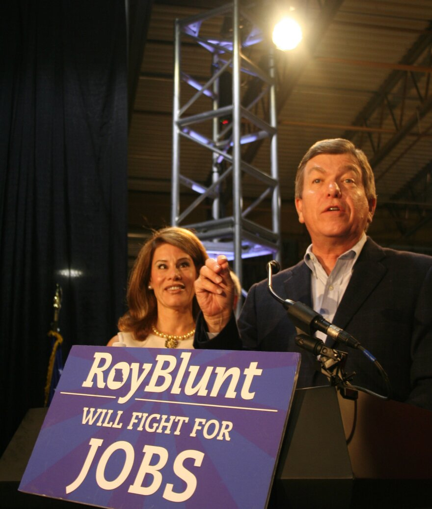 Abigail and Roy Blunt primary election night 2010
