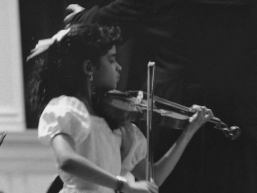 A young Maya Shankar.