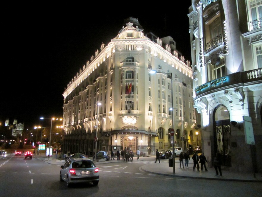 The Westin Hotel Palace in Madrid throws one of the largest New Year's Eve parties in the city. Crates of grapes are ordered for guests to eat at midnight.