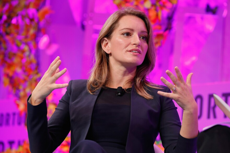 MSNBC anchor Katy Tur speaks onstage at the Fortune Most Powerful Women Summit, Day 3, on Oct. 11, 2017 in Washington, D.C. (Paul Morigi/Getty Images for Fortune)