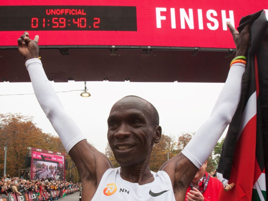 Kenya's Eliud Kipchoge's sub-two-hour time, although unofficial, is another achievement in the world of marathon running for the Olympic gold medalist.