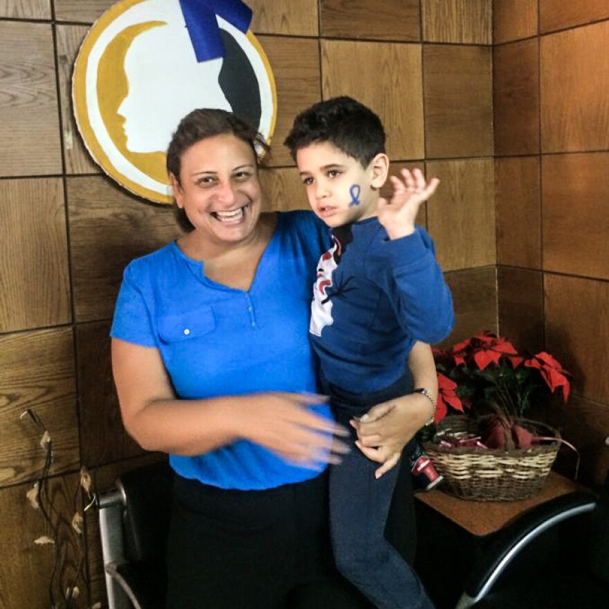 Dahlia Soliman celebrates Autism Awareness Month with one of her students, Seif. Ever since she was a little girl, she loved working with children with special needs.