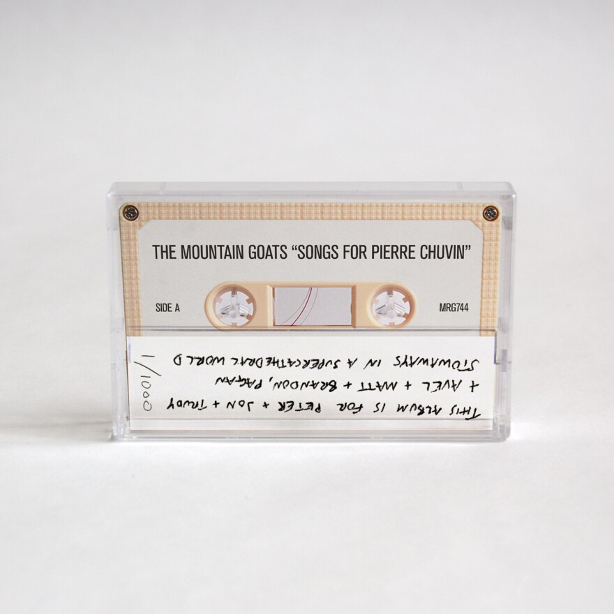 The completed <em>Songs for Pierre Chuvin</em> cassette.