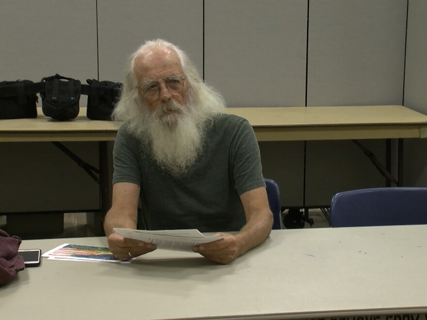 76 year old Army veteran Robert Neilson writes notes of encouragement to fellow veterans who have contemplated suicide. He's struggled with mental health issues since he left the Army in the 1960s.