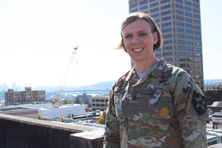 Army Infantry soldier Patrica King began transitioning from male to female more than a year ago.