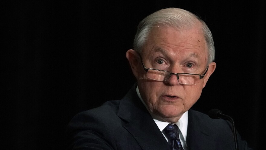 Attorney General Jeff Sessions spoke about his plan to limit the reasons for people to claim asylum in the U.S., at a Justice Department immigration review training program on Monday in Tysons, Va.