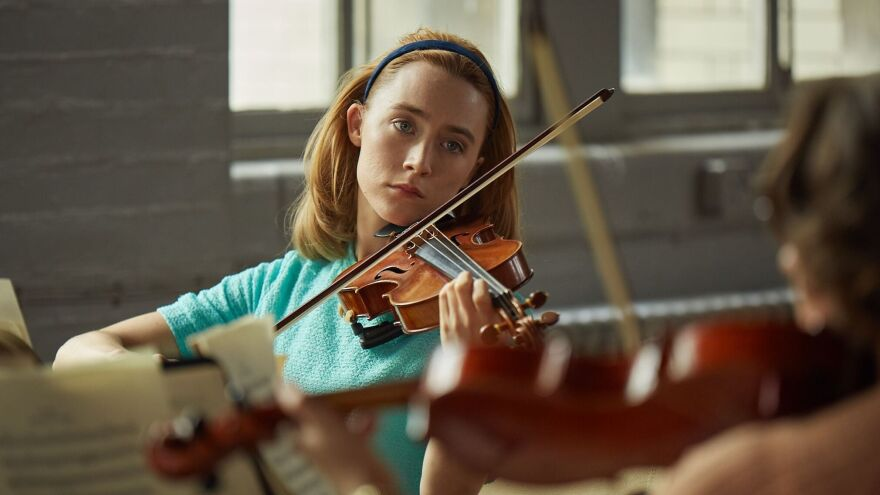 Saoirse Ronan plays newlywed Florence in <em>On Chesil Beach, </em>in<em> </em>theaters now.