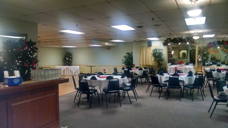 Yacovelli's banquet hall can seat up to 500 people.