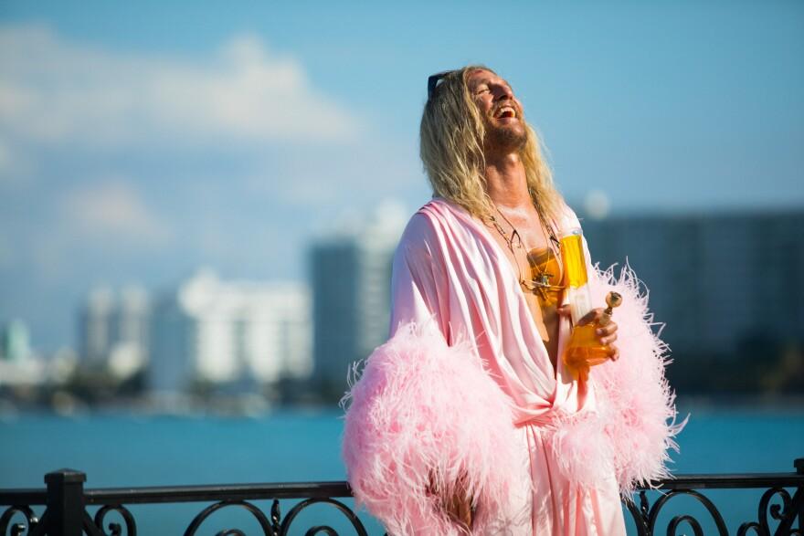 Blaze of Glory: Moondog (Matthew McConaughey) is a stoner/poet shambling through South Florida in Harmony Korine's <em>The Beach Bum.</em>