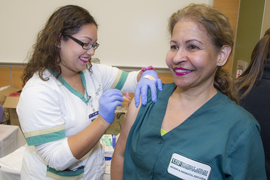 Annual Flu Shot Day hosted by the College of Public Health.
