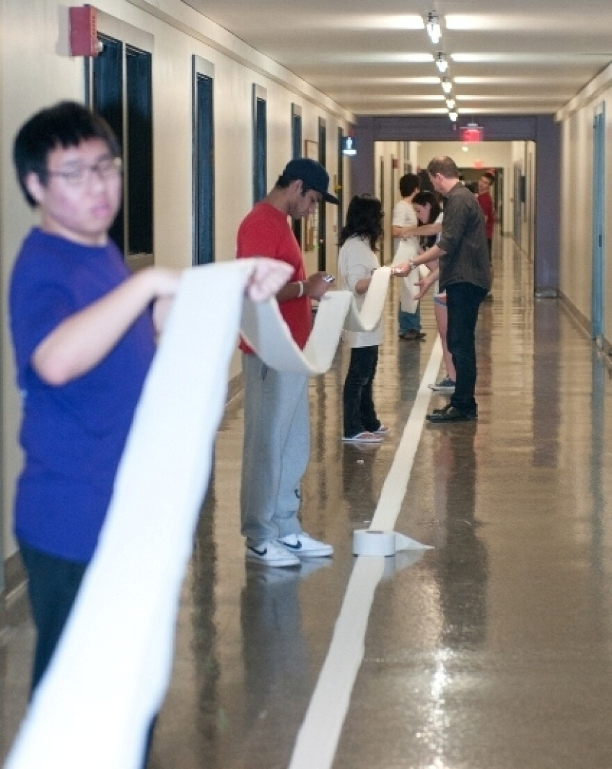 """MIT's """"infinite corridor"""" is 825 feet long, giving the students enough room to go for the record."""