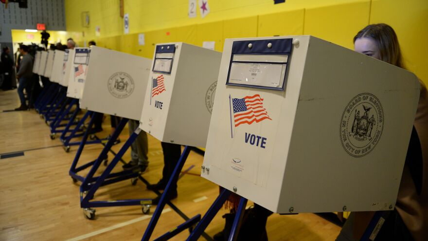 People vote in the 2016 presidential election in New York City.