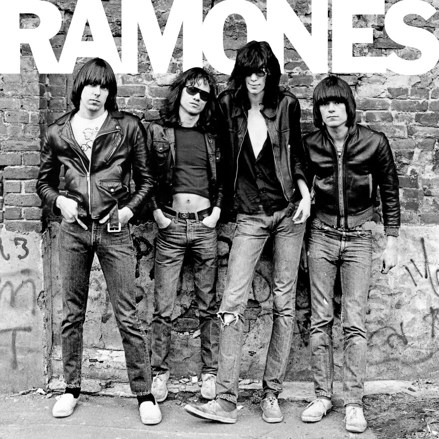 The Ramones self-titled debut album, released in 1976.