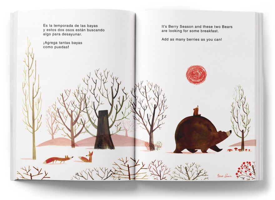 Help some hungry bears find berries for breakfast in this two-page spread by Steve Small.
