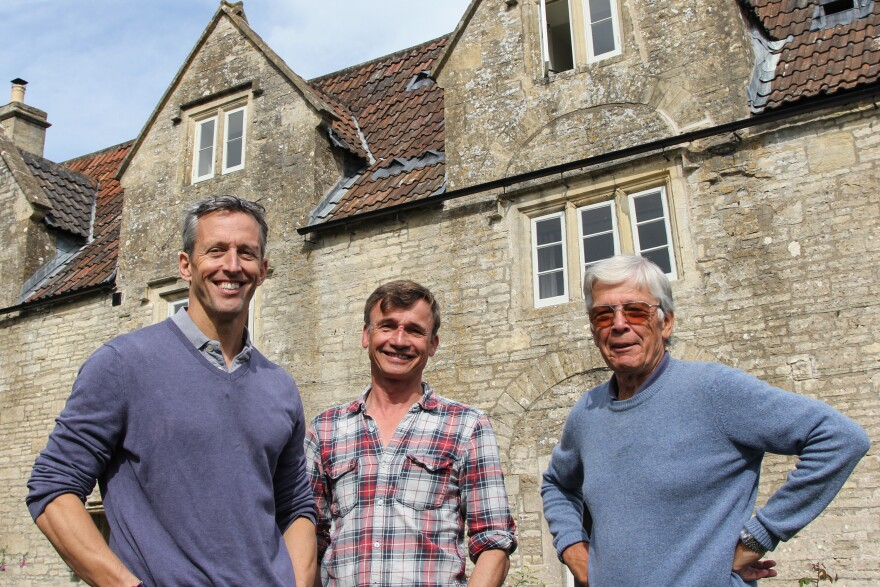 "(Left to right) Dom Moorhouse, an entrepreneur, Gerard Coles, who makes cider, and Trevor John, a retired accountant, are part of ""Save the Packhorse,"" a team of villagers who raised more $1.3 million to buy and overhaul their local pub, after it was set to be converted into residential and office space."
