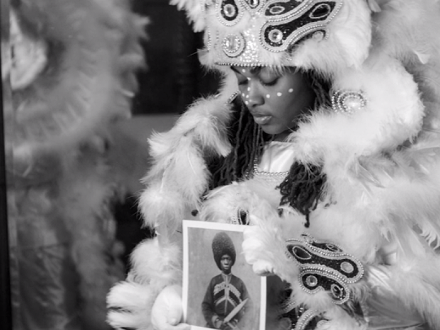 Though the Mardi Gras Indian who appears in <em>Lemonade</em> is a young woman, most people who mask and parade as part of the tradition are male.
