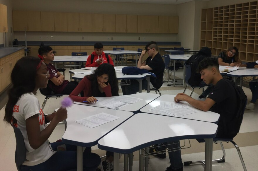 Around 26 students attended West Campus High School on the first day of school in August of 2019.