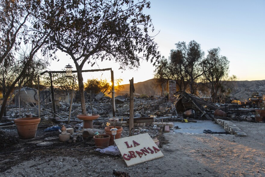 La Granja Farm was completely destroyed in the Tick Fire last week. The fire moved fast through Santa Clarita, forcing 50,000 people and their pets to evacuate.