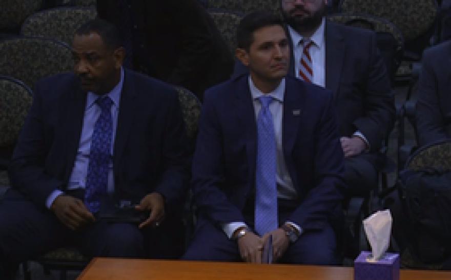Department of Veterans Affairs Executive Director Danny Burgess Jr. (right)