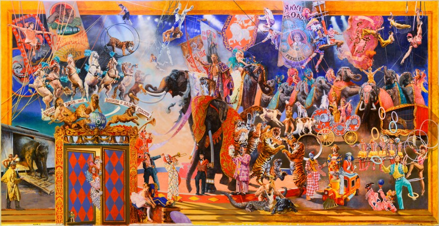 The Greatest Show on Earth. a Mural by William Woodward, 1990. Gift of the Feld Family and Feld Entertainment, Inc., 2012. Photo by Giovanni Lunardi. - 4MB.jpg