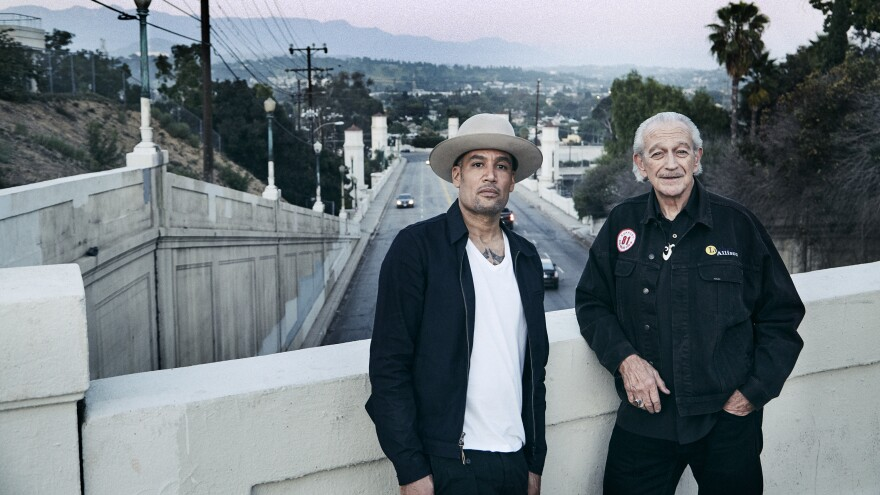 Ben Harper (left) and Charlie Musselwhite (right)