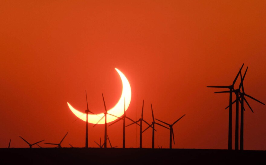 The May 20, 2012, solar eclipse is visible from Elida, New Mexico.