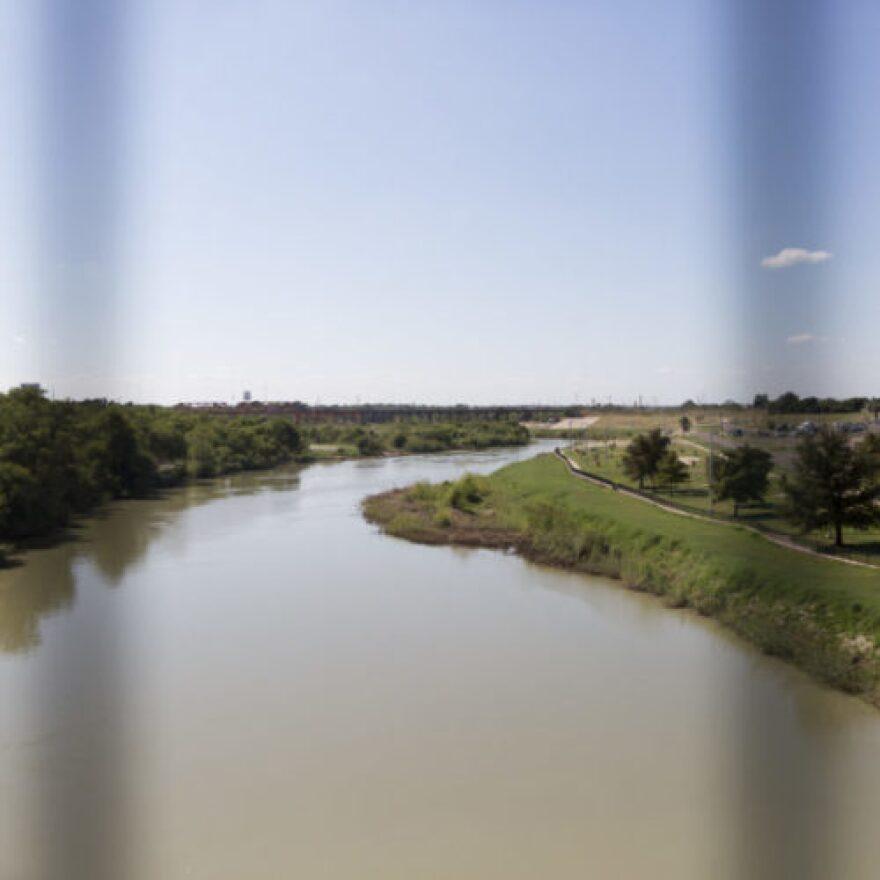The Rio Grande River at the Texas-Mexico border in Laredo.